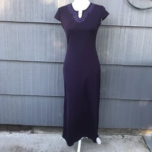 Montage Purple casual short sleeve maxi dress Sz S